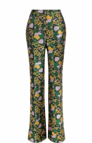 Расклешенные брюки со стрелками Erdem. Цвет: зеленый