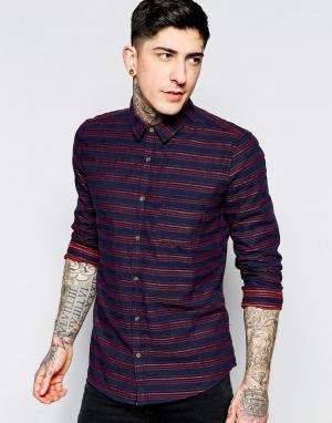 Dead Vintage Красная рубашка с декоративными швами. Цвет: красный