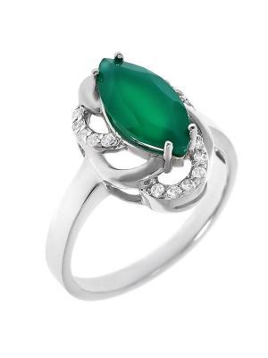Кольцо BALEX. Цвет: зеленый, темно-зеленый, серебристый