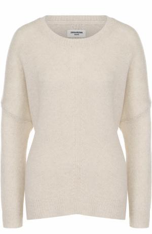 Кашемировый пуловер свободного кроя Zadig&Voltaire. Цвет: светло-бежевый