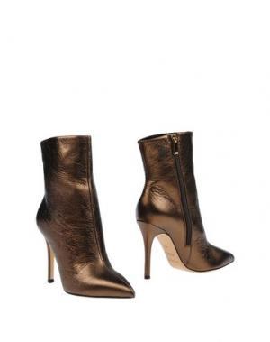 Полусапоги и высокие ботинки NANNINI. Цвет: бронзовый