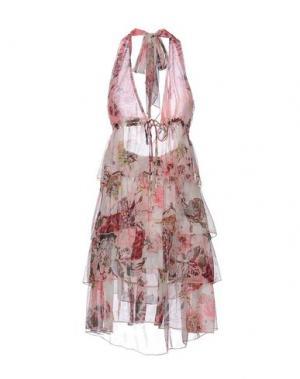 Платье до колена FISICO. Цвет: розовый