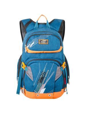 Рюкзак Across. Цвет: синий, оранжевый