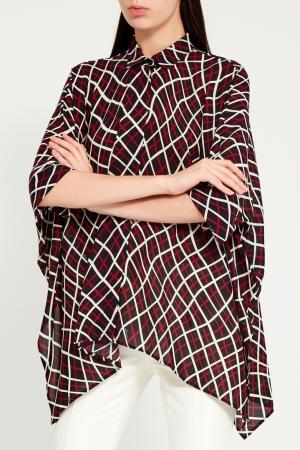 Свободная блузка с контрастным принтом Gucci. Цвет: multicolor