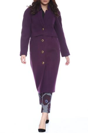 Пальто Moda di Chiara. Цвет: фиолетовый