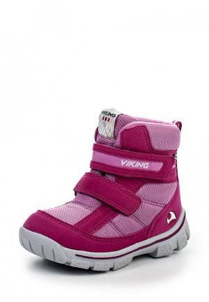 Ботинки Viking. Цвет: фуксия