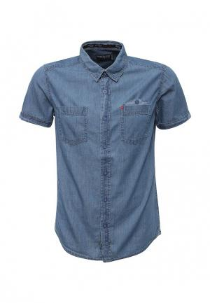 Рубашка джинсовая MeZaGuz. Цвет: синий