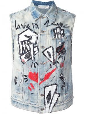 Джинсовая куртка без рукавов Faith Connexion. Цвет: синий