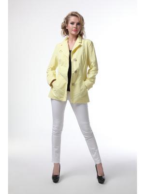Куртка DizzyWay. Цвет: желтый