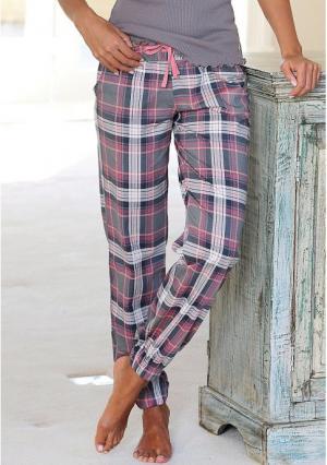 Пижамные брюки Victoria H.I.S.. Цвет: темно-серый в клетку, экрю в клетку