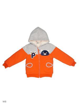 Куртка Sago Kids i Ant Domain. Цвет: оранжевый, серый