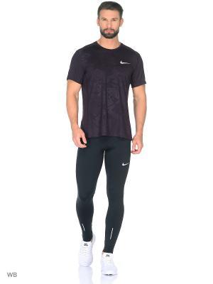Футболка M NK DRY MILER TOP SS PR Nike. Цвет: фиолетовый
