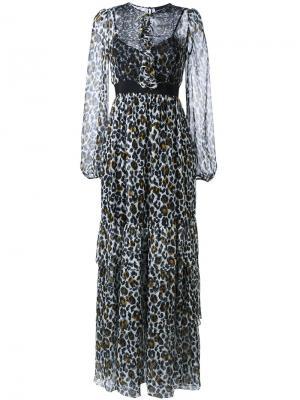 Платье с леопардовым принтом Marco Bologna. Цвет: чёрный