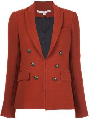 Пиджак с декоративными пуговицами Veronica Beard. Цвет: красный