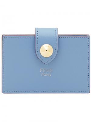 Визитница на кнопке Fendi. Цвет: синий