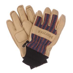 Перчатки сноубордические  Lifty Glove Tan/Electric Blue Marmot. Цвет: бежевый,фиолетовый