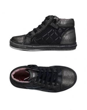 Высокие кеды и кроссовки GARVALIN. Цвет: черный