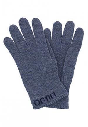 Перчатки LIU JO. Цвет: голубой