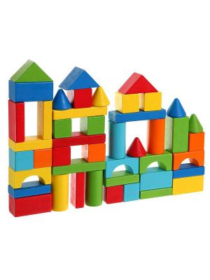 Игр. набор дерев., строит. Кубики, 45 дет., Bondibon, BOX 18х18х17,3 см., арт. TKB381 BONDIBON. Цвет: зеленый, белый