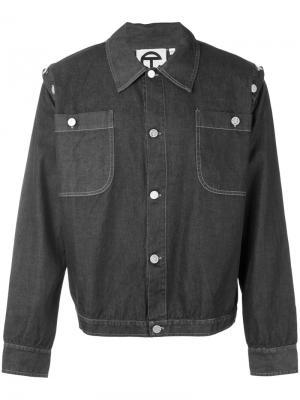 Джинсовая куртка Telfar. Цвет: серый
