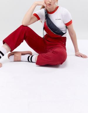 Tommy Jeans Сумка-кошелек на пояс с фирменной лентой ремешке. Цвет: мульти