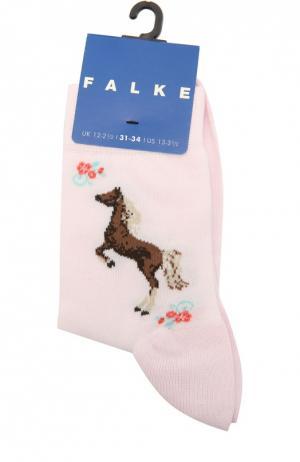 Носки с рисунком Falke. Цвет: розовый