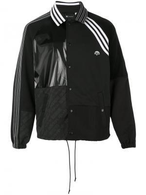 Куртка с панельным дизайном и логотипом Adidas Originals By Alexander Wang. Цвет: чёрный