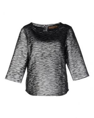 Блузка MAISON OLGA. Цвет: серый