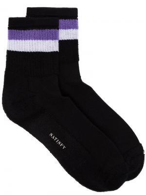 Полосатые носки Punk Reverse Satisfy. Цвет: чёрный