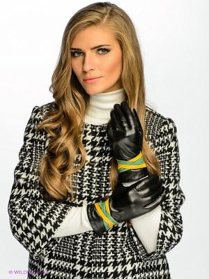 Перчатки Dali Exclusive. Цвет: черный, желтый, зеленый