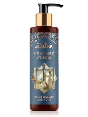 Фито-шампунь без SLS для густоты и объема волос. С коноплей ассирийской рожью Зейтун. Цвет: кремовый