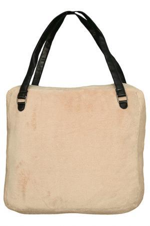 Декоративный плед, сумка MIKRONESSE. Цвет: коричневый