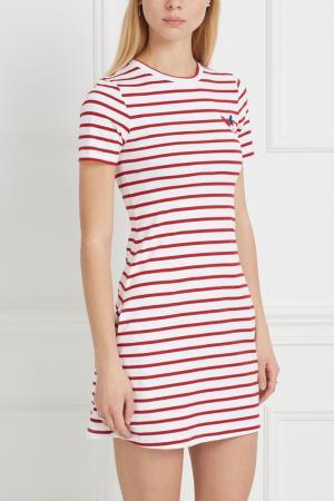 Хлопковое платье Etre Cecile. Цвет: красный, белый