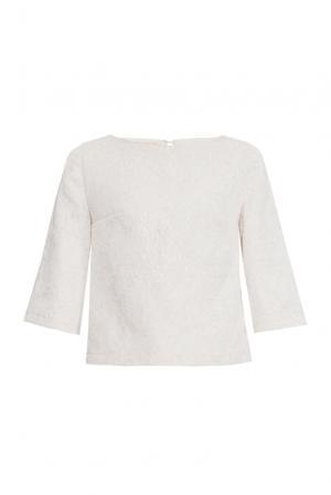 Блуза из шелка с вискозой 156886 Nataniel Dobryanskaya. Цвет: бежевый