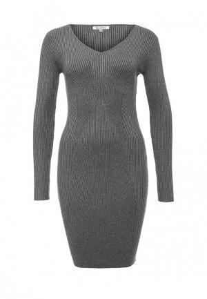 Платье Blue Oltre. Цвет: серый