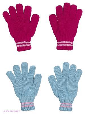 Перчатки FOMAS. Цвет: голубой, малиновый