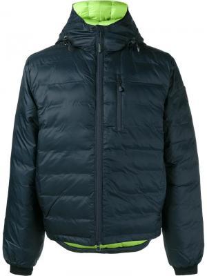 Куртка-пуховик Lodge Canada Goose. Цвет: синий