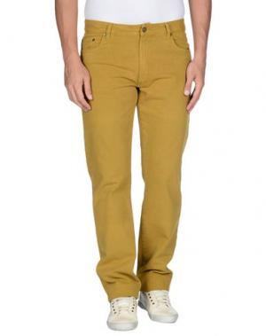 Джинсовые брюки COTTON BELT. Цвет: охра