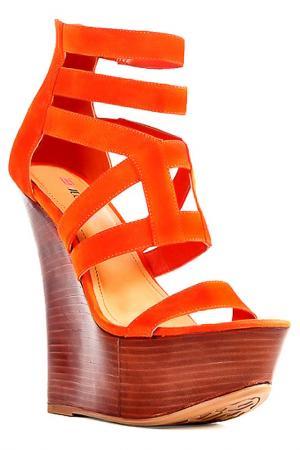 Босоножки JUSTFAB. Цвет: оранжевый