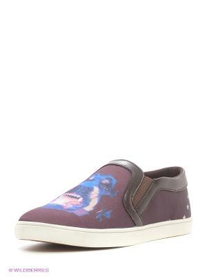 Слипоны Dino Ricci. Цвет: темно-фиолетовый, коричневый