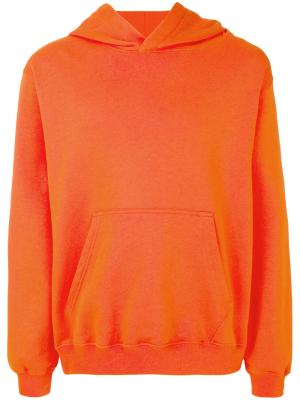 Толстовка с принтом на капюшоне MSGM. Цвет: жёлтый и оранжевый