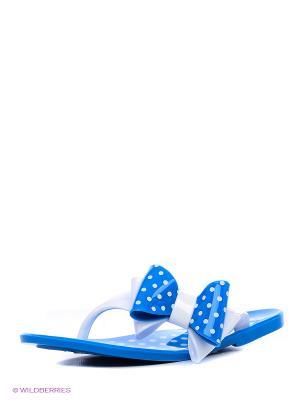 Шлепанцы Kapika. Цвет: голубой