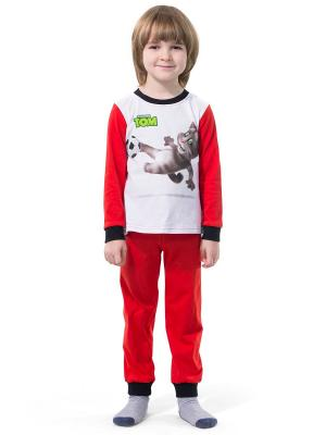 Пижама Talking Tom. Цвет: красный, белый