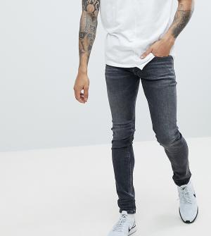 Diesel Серые выбеленные джинсы скинни Sleenker 84JU. Цвет: серый