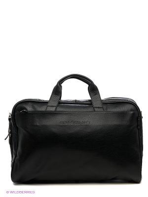 Портфель ANTAN. Цвет: черный