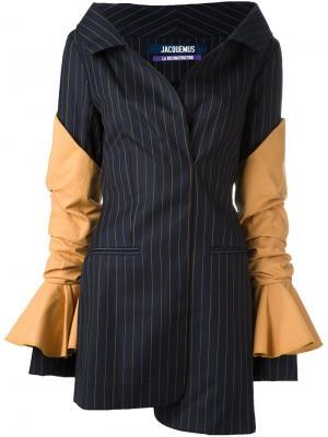 Платье в тонкую полоску Jacquemus. Цвет: синий