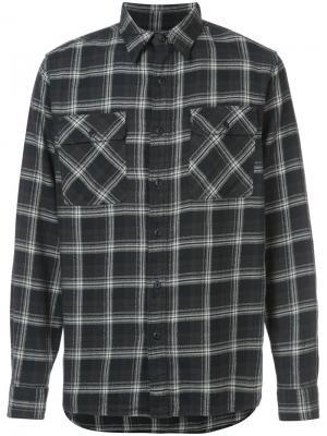 Рубашка в клетку Rrl. Цвет: чёрный