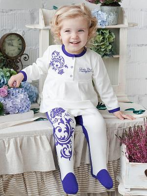 Кофточка Lucky Child. Цвет: белый, фиолетовый