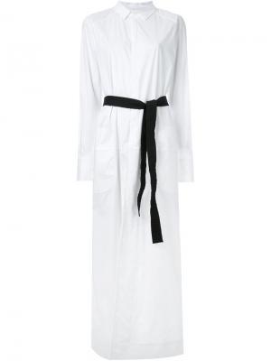 Платье Daydreamer с поясом A.F.Vandevorst. Цвет: белый