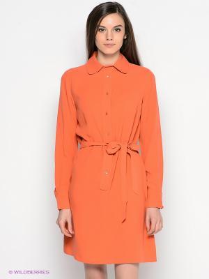 Платье GANT. Цвет: оранжевый
